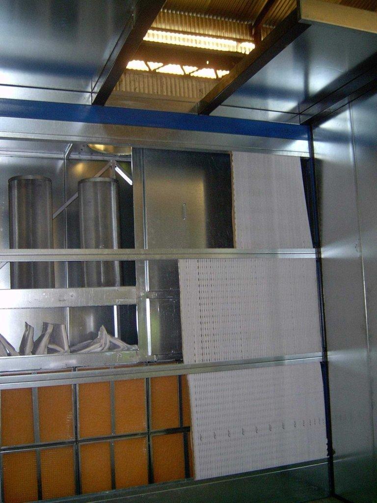 Particolare filtri cabina a secco