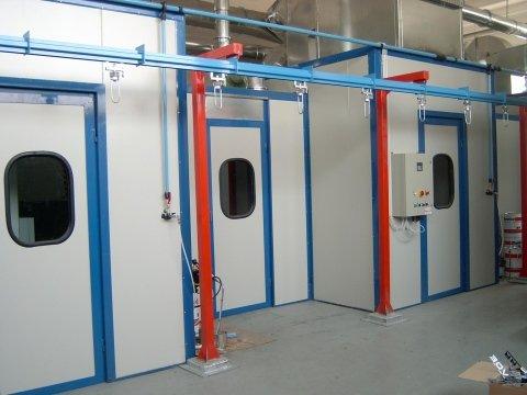 Impianti di verniciatura monza tecnica industriale for Piani di cabina di base di base