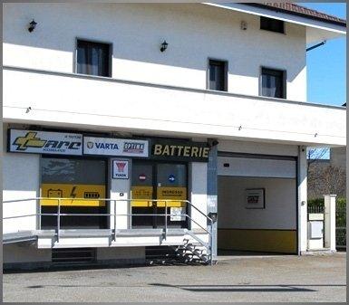 negozio di batterie