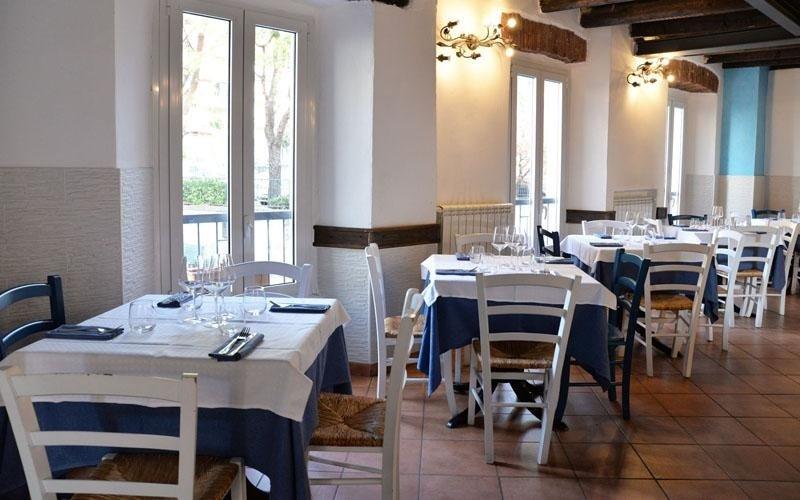 Restaurant's internal dining area