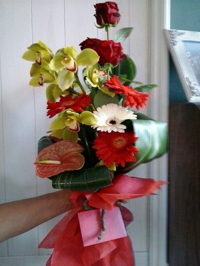 bouquet gialli e rossi