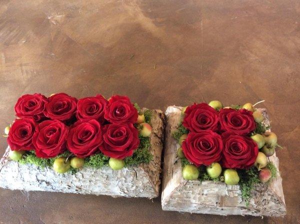 rose vere disidratate rosse