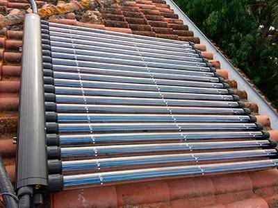 Solare circolazione forzata sottovuoto Impianti Montaguit