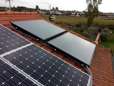 Solare circolazione forzata Impianti Montaguit
