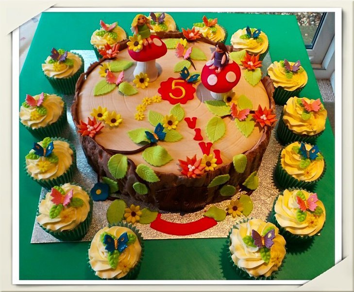 Woodland Fairy Cake and Cupcakes