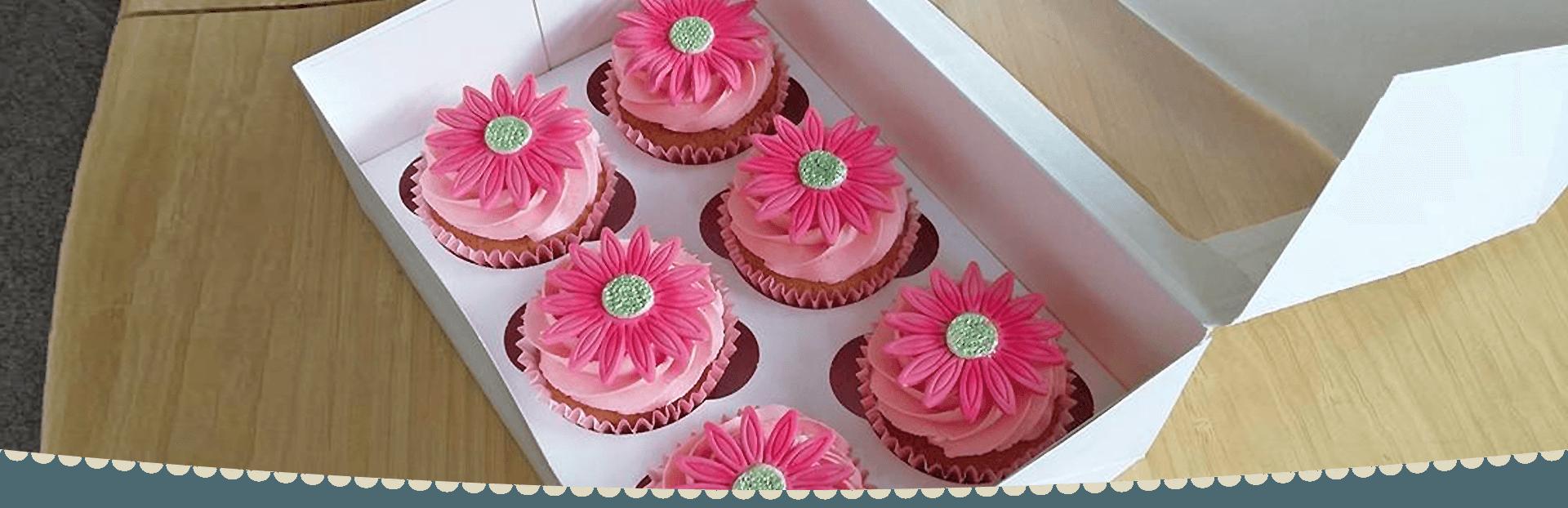flower-themed cake