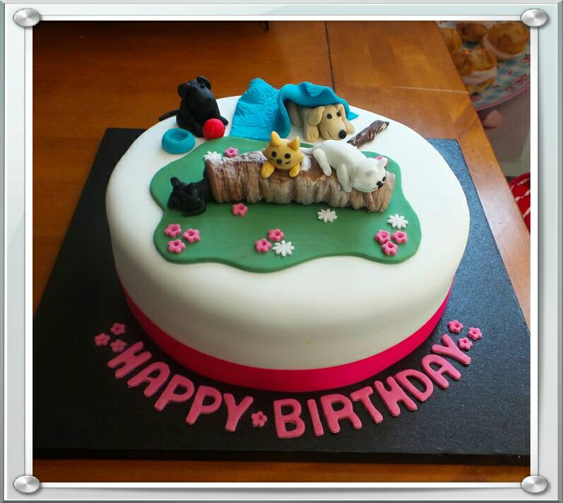 Cats and Dogs animal cake