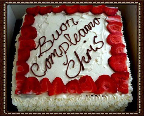 Fresh Cream and Fruit Birthday Cake