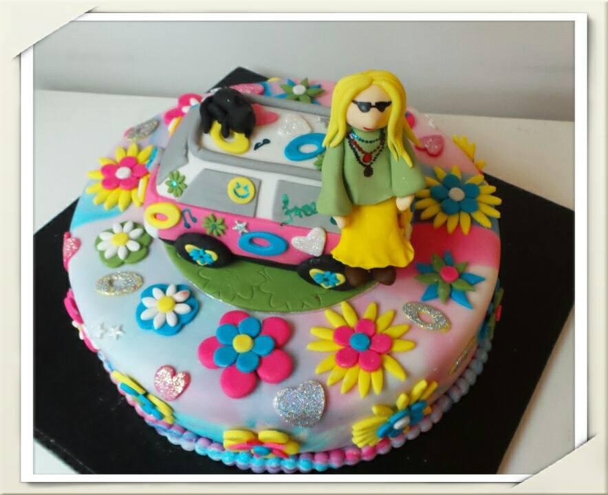 Retro Hippy Caravan Cake