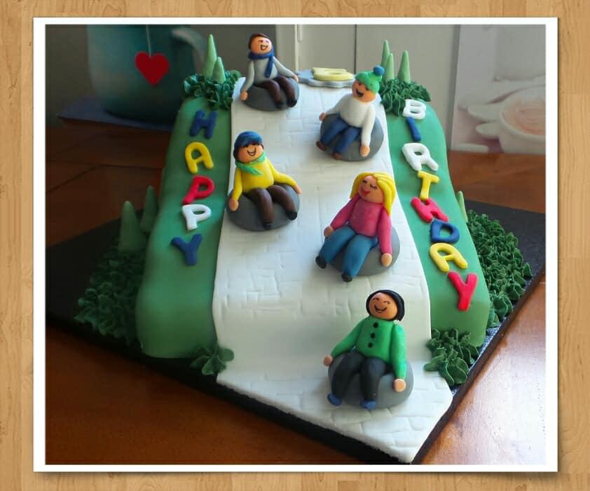 Snow Tubing Cake