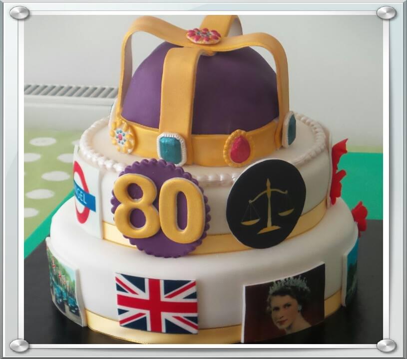 80th Patriotic Cake