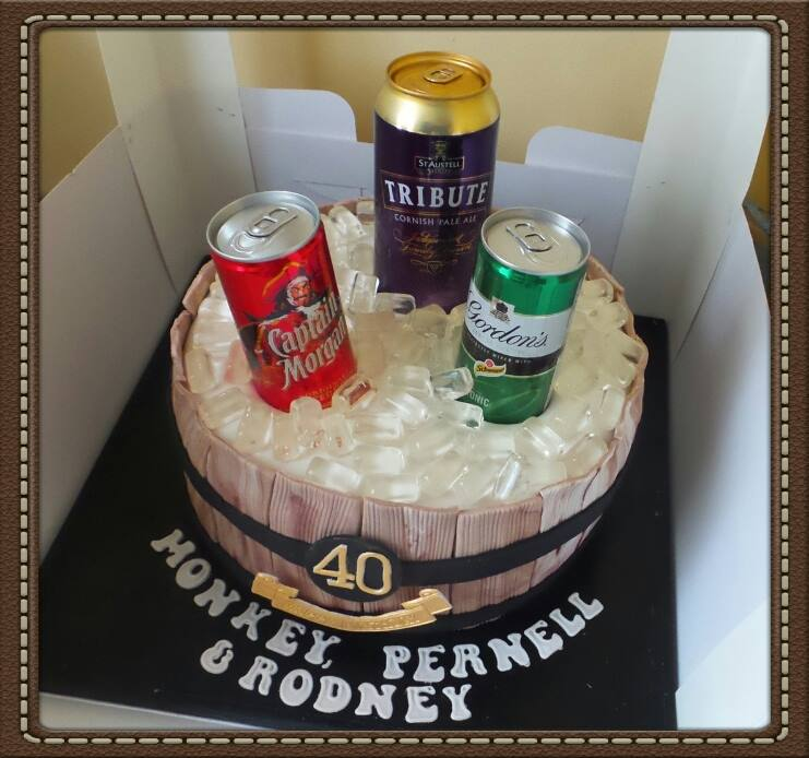 Man's 40th Cake