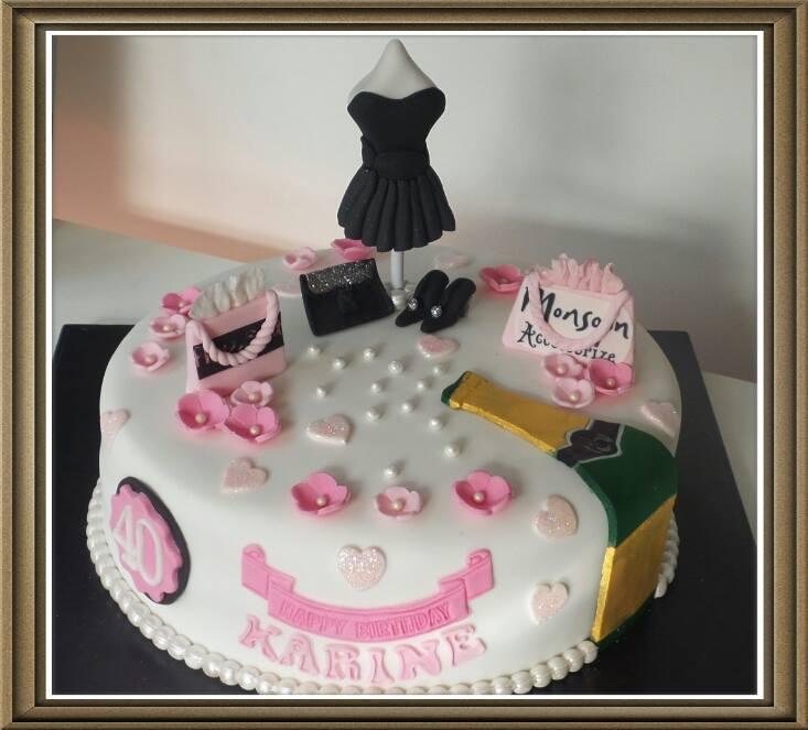 Girly Shopping and Hand Bag Cake