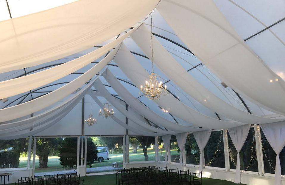 Marquee Draping at Allely Estate Kumeu Auckland