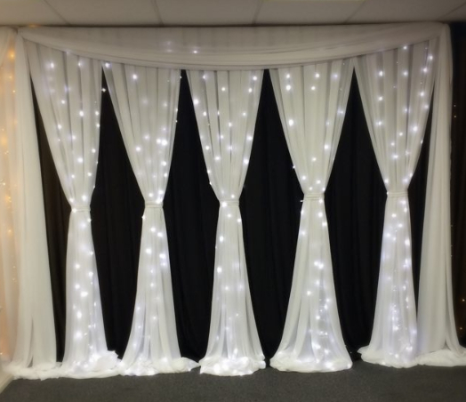 Milan Black and White Fairy Curtain