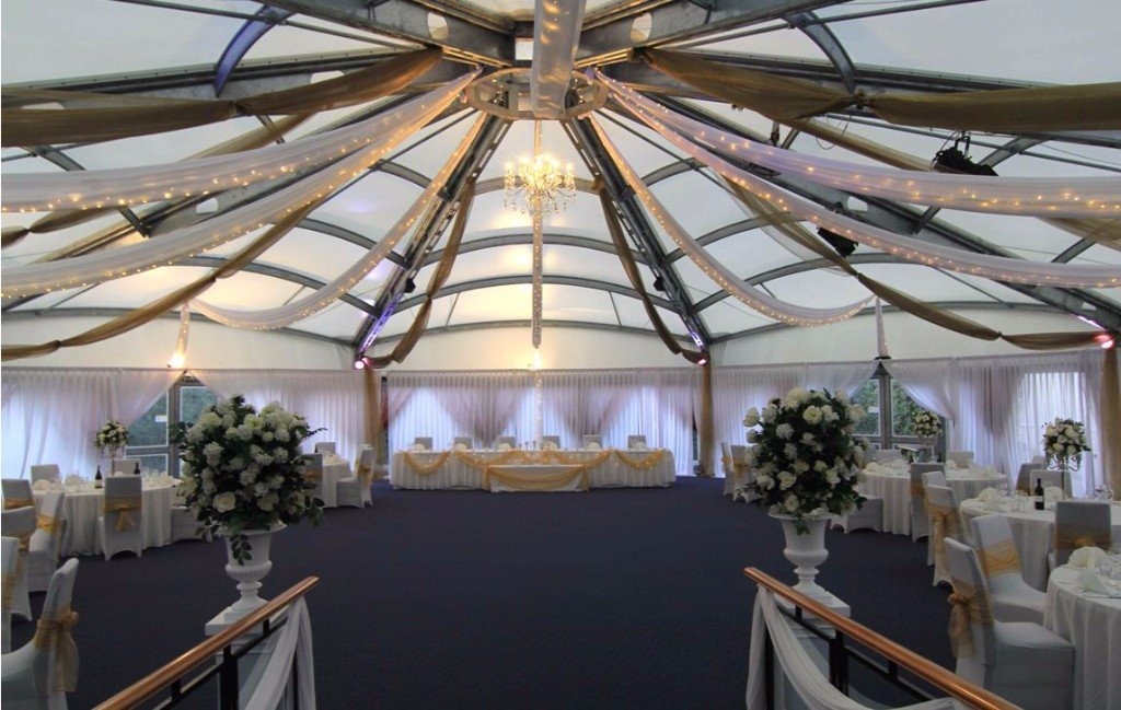 Ceiling and wall draping at Devonport Navy Base