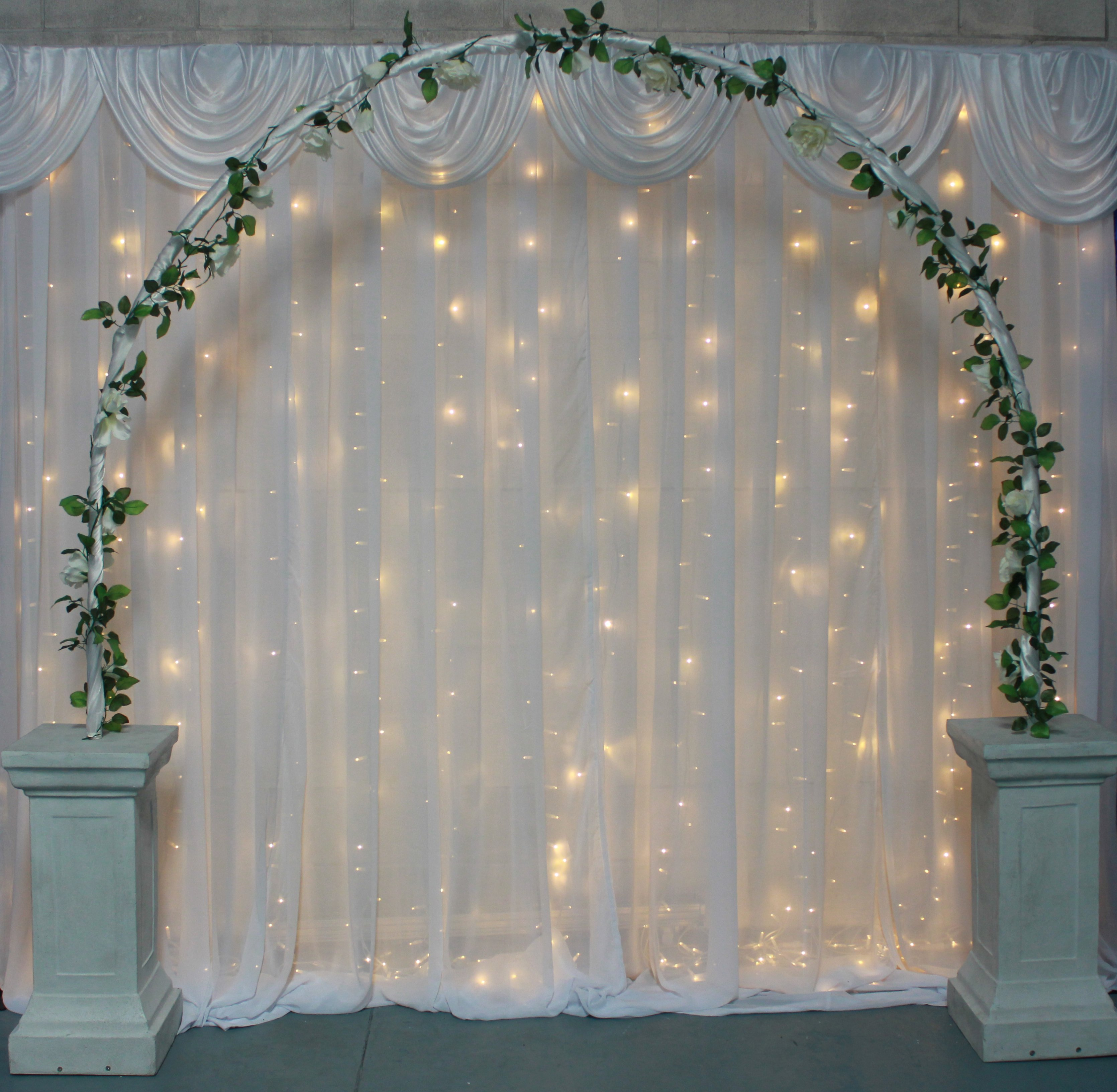 Wedding Pillar Archway with Garland