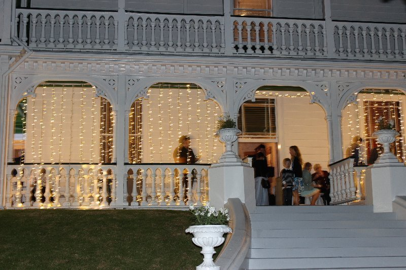Venue fairy lighting inside and outside by Event Styling Co, please enquire for pricing