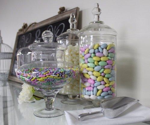 Apothecary Candy Jars, squat stem Candy Jar