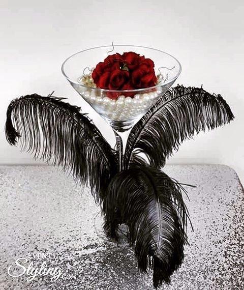 1920s Ostrich Martini Centrepiece $25