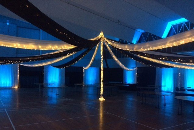 Customised ceiling draping at Lavalla  Auckland