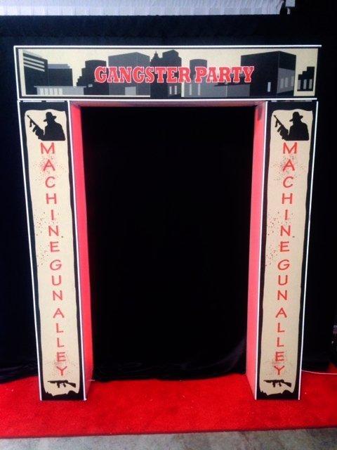 Illuminated Entrance 1920s Gangster  2.3m x 2.0m  $100
