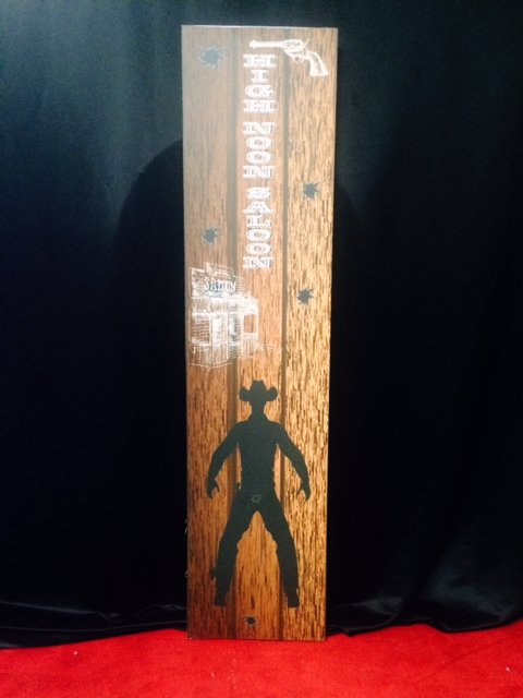 Prop Western Tall Sign High Noon 2.3m x 0.60m $45 incl gst