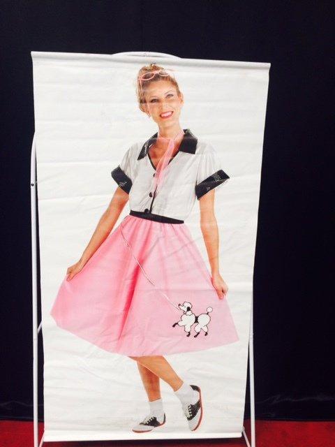 Prop 50s Girl Banner 1.7m x 0.90m $25 incl gst