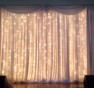 White Fairy Curtain 3 meters from