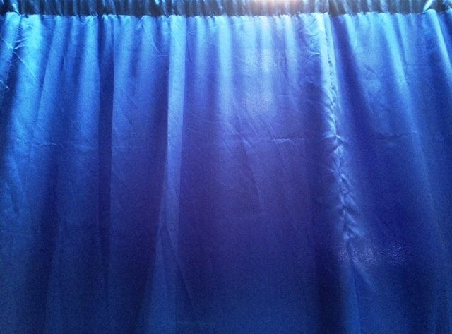 Royal Blue Satin Wall drapes 3m wide x 2.4m highHire price $30 Incl frames and gst