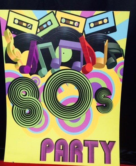 1980s Retro Theme backdrop