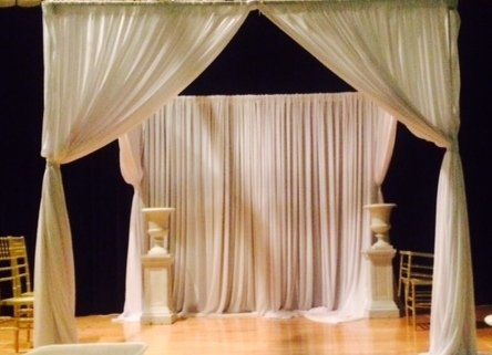 White Chiffon Entrance ways From