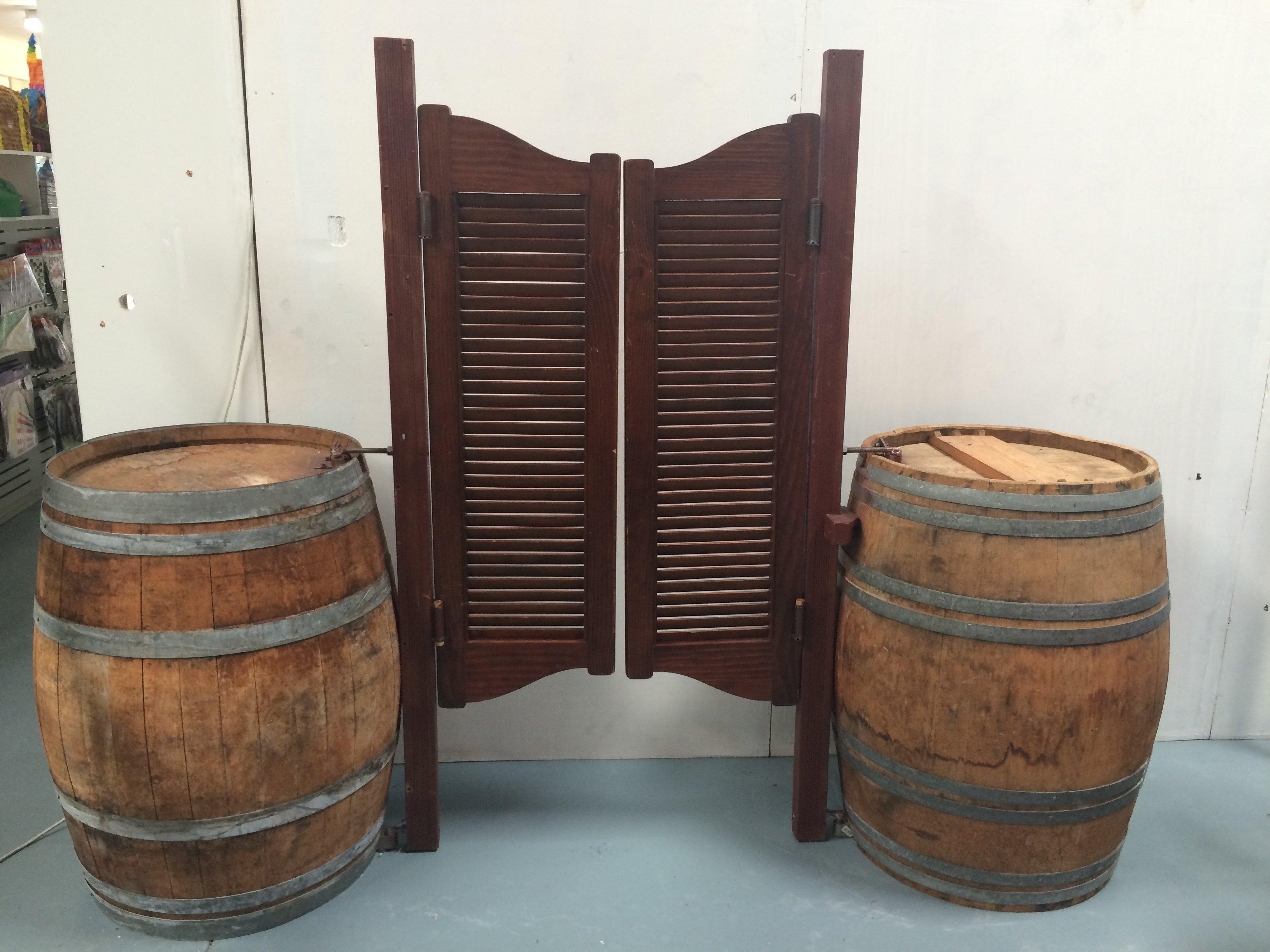 Western Barrels And Swing Doors Total width 2.2m  height 1.7m depth 63cm $150 incl gst