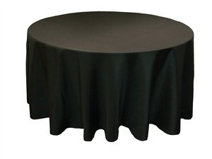Banquet length (to floor) table cloth available in black and white