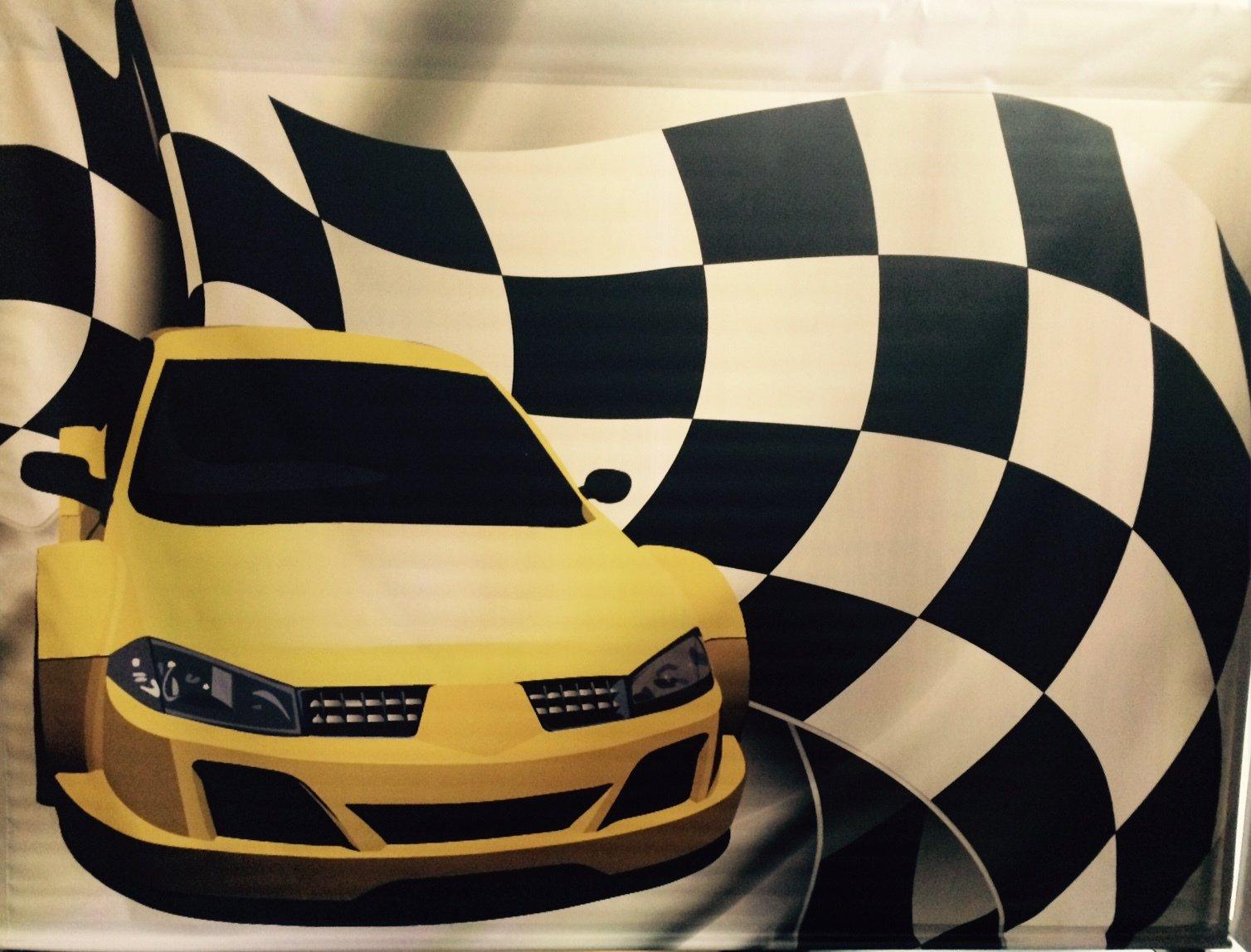 Backdrop Race Car