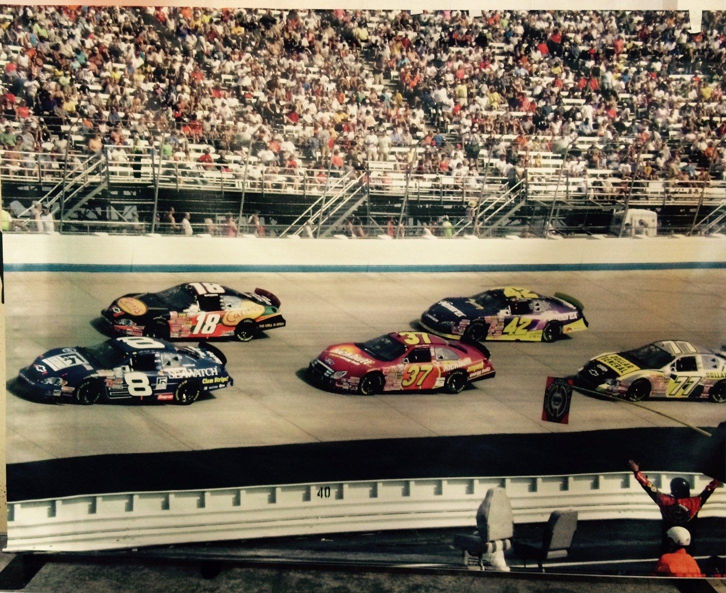 Backdrop Race Car Scene 3m x 2.3m $60 incl frame& gst