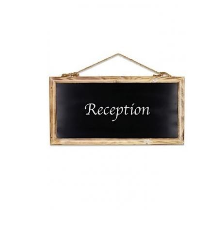 Chalk board Large(pictured) hire price $12 incl gst , Also available in Small hire price $8 incl gst.