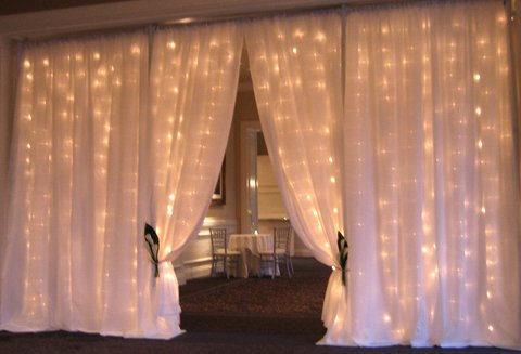 White Fairy light Entrance