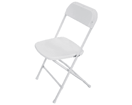 White Folding Chair $3.50 incl gst