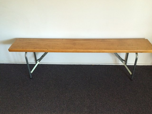 Wodden Form Bench.5m seats 5 $11.50 incl gst