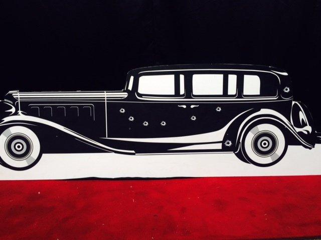 Prop Gangster Car Black 2.2m x 0.70m $40 incl gst