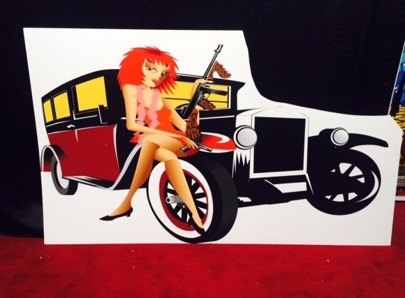 Prop Gangster Car Flapper Woman 2.1m x 1.2m  $40 incl gst