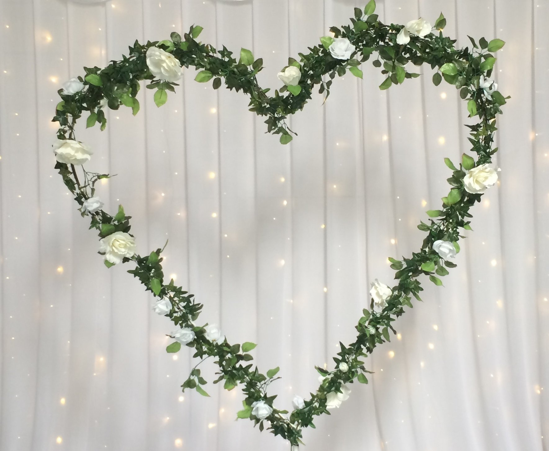 Heart Frame with Rose Garland