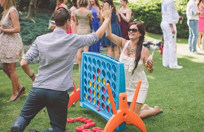 wedding games hire in Auckland such as connect four
