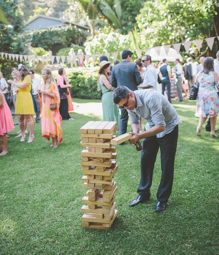 Giant Jenga Game hire price $40 incl gst