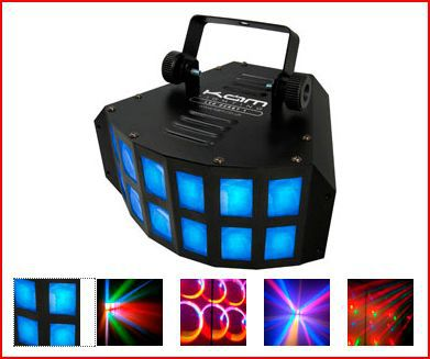 Led Derby Light creates moving colour beams to the beat of the music $40 incl gst