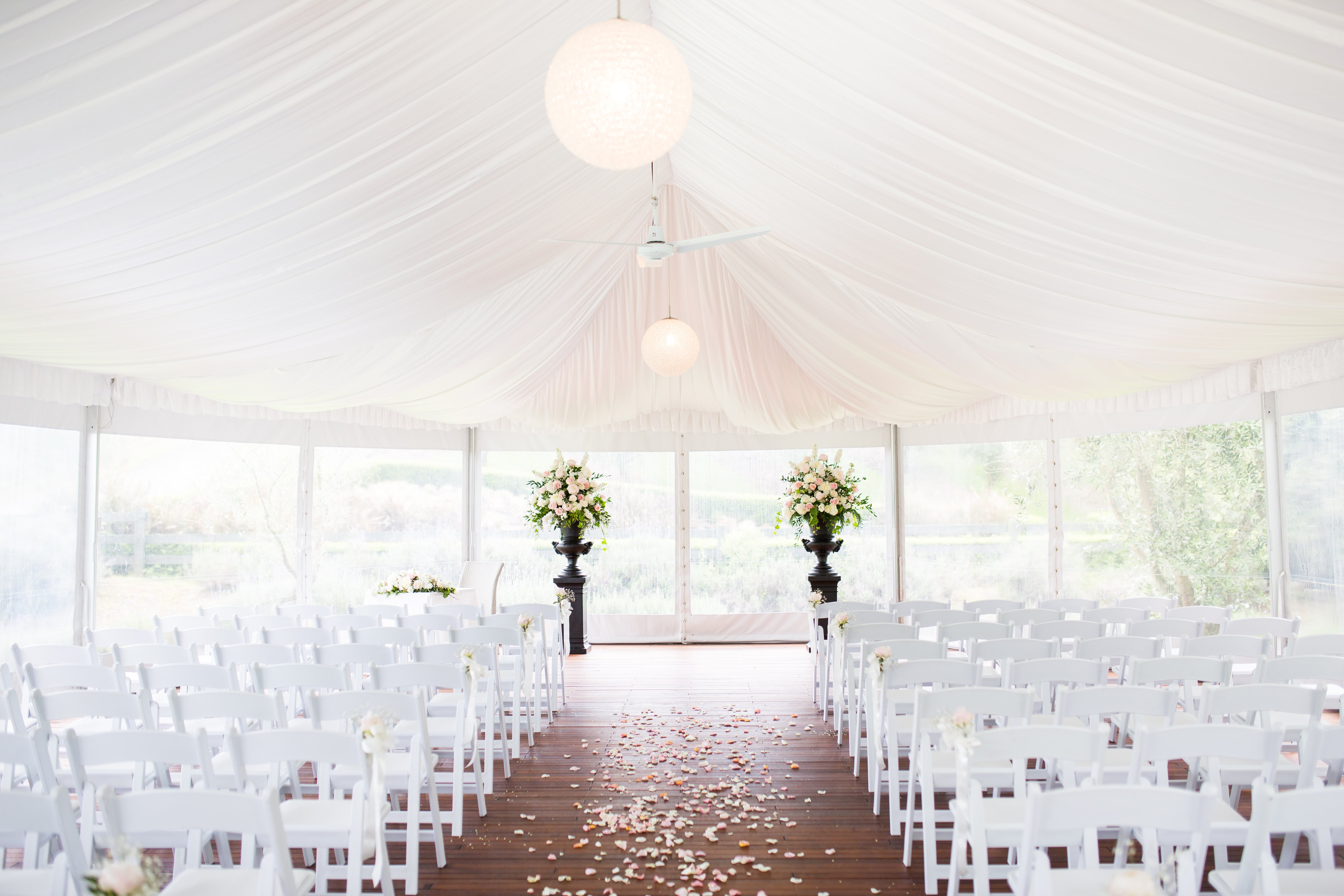 Wedding event venue decorations