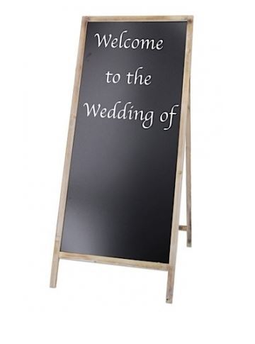 Rustic Standing Chalk Board hire price $20 incl gst