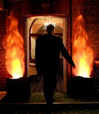 Flame Lights Large $50 each Measure 51cm long x 35cm wide x 44cm high, weigh 10 kgs