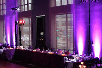Purple lighting with Par Can lights, Hire price from $40 each